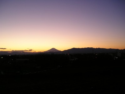 平成21年2月1日の富士山 夕方